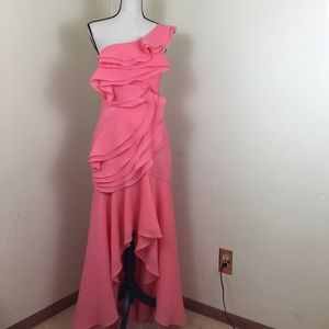 EUC🔸BCBG Maxazria. Evening Gown. Pink. Sz. 10.